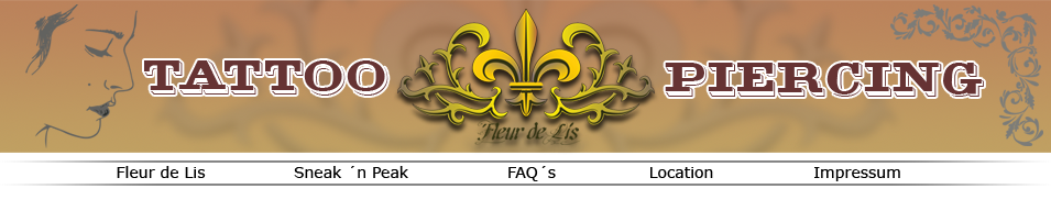 fleur de lis tattoo piercing. Black Bedroom Furniture Sets. Home Design Ideas